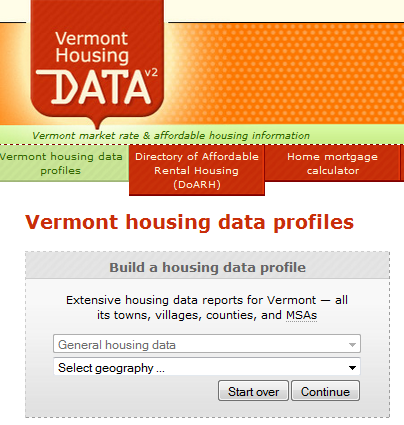 Latest Census Bureau estimates added to Vermont Housing Data website